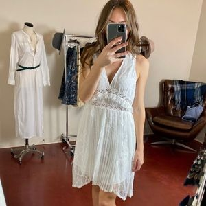 (FOXIEDOX) Babette Lace Inset Party Dress